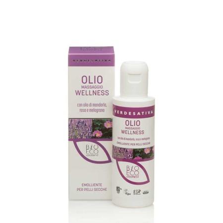 Olio massaggio con olio di mandorla rosa e melograno